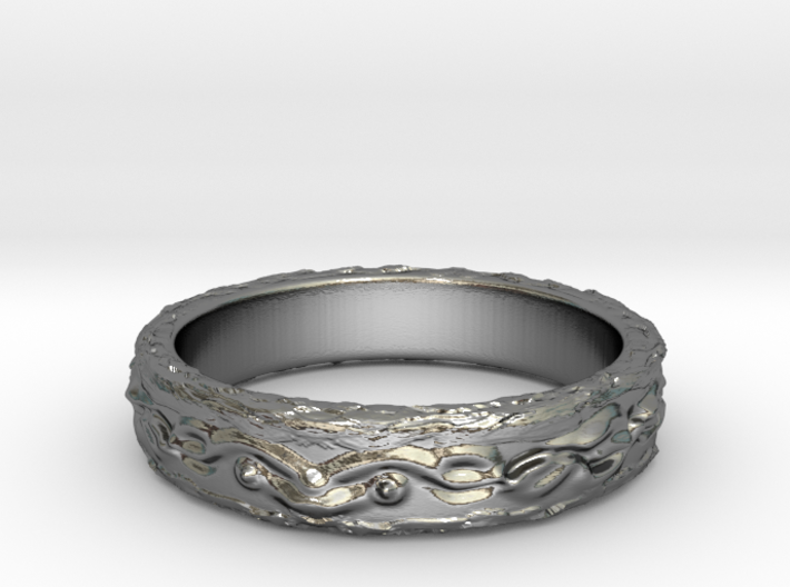 Ring of the earth(size = USA 6.5) 3d printed