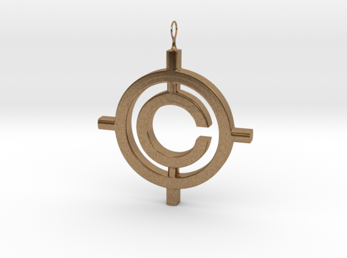 The Conspiracy Pendant 3d printed