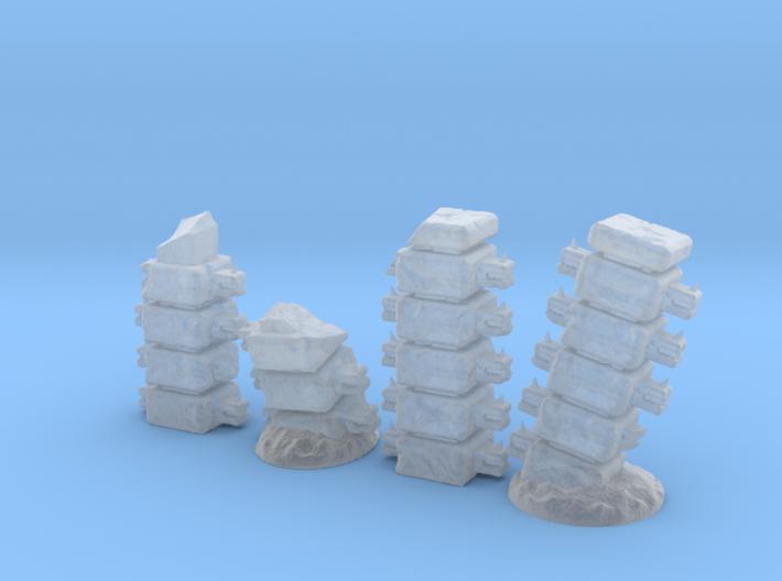 Block Columns (15mm high) 3d printed