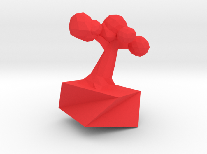 Low poly tree statue 3d printed