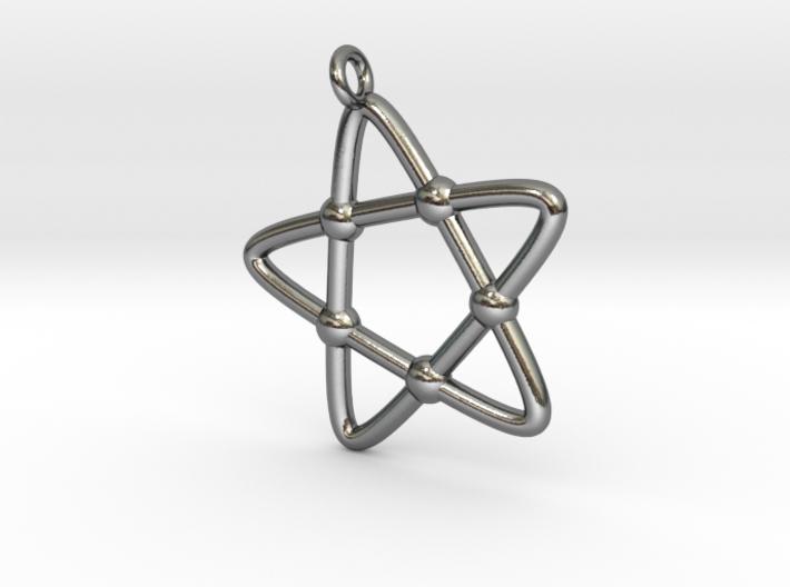 Hypotrochoid Star Pendant 3d printed