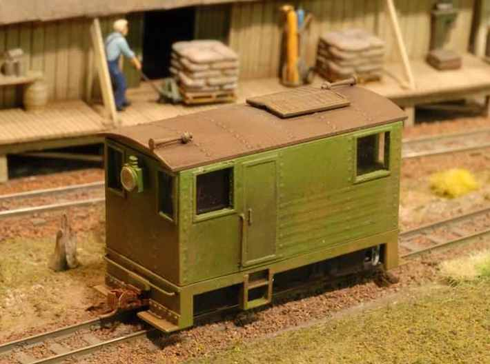 HOn30 BANDAI boxcab shell 3d printed This one is on Cray Valley RR