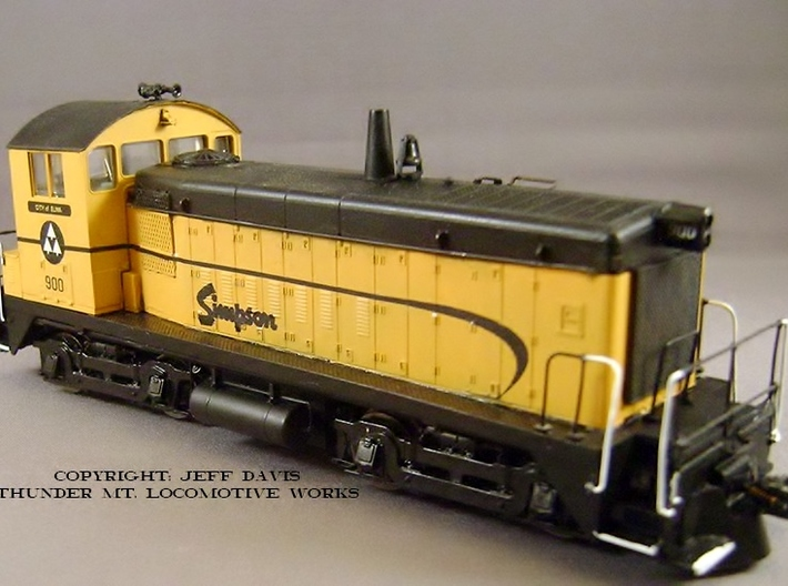 HO-Scale Simpson Lumber SW Dynamic Brake 3d printed Model, Paintwork & Photo by Jeff Davis.