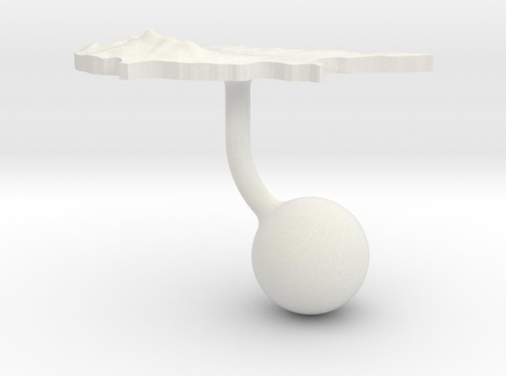 Cyprus Terrain Cufflink - Ball 3d printed