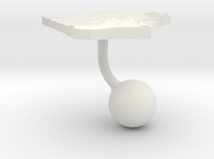 Algeria Terrain Cufflink - Ball 3d printed