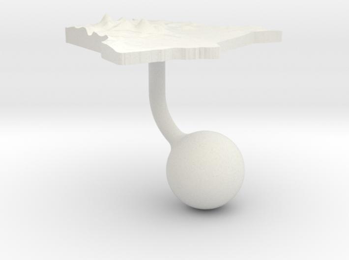 Kenya Terrain Cufflink - Ball 3d printed