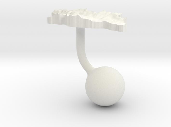 Georgia Terrain Cufflink - Ball 3d printed