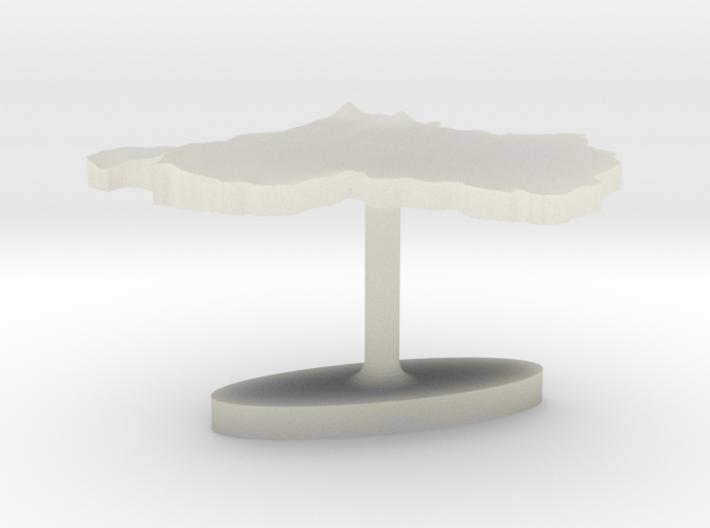 Rwanda Terrain Cufflink - Flat 3d printed