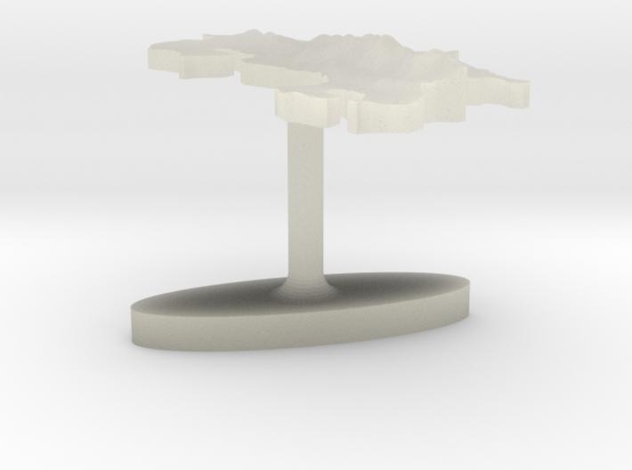 Costa Rica Terrain Cufflink - Flat 3d printed
