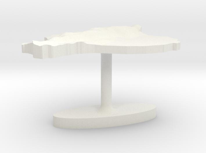 Ecuador Terrain Cufflink - Flat 3d printed