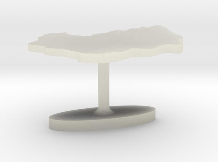 Indonesia Terrain Cufflink - Flat 3d printed