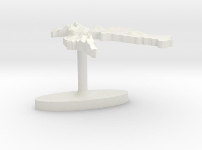 Croatia Terrain Cufflink - Flat 3d printed