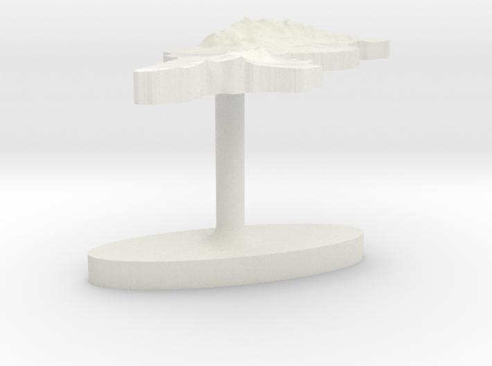 Tunisia Terrain Cufflink - Flat 3d printed