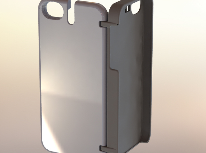 iPhone 5 Credit Card Hinge Case, Plain 3d printed