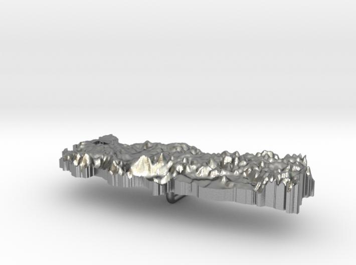 Turkey Terrain Silver Pendant 3d printed