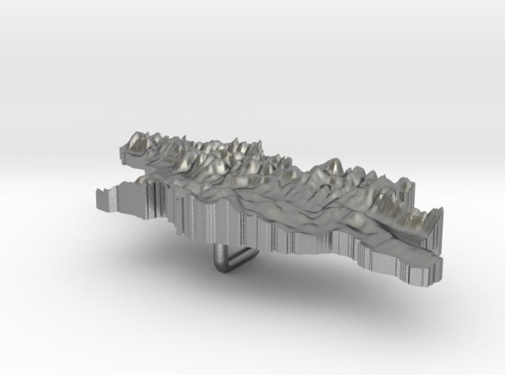 Georgia Terrain Silver Pendant 3d printed