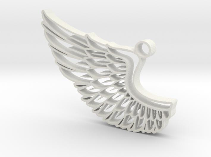 Angel Wing Pendant 3d printed
