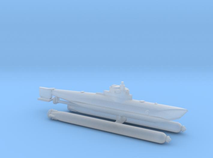 "Submarine Type ""Biber"" 1/285 6mm 3d printed"