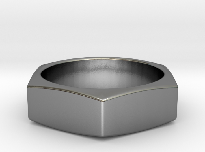 Stylish Nut Ring 21 mm 3d printed