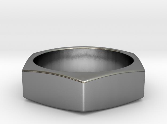 Stylish Nut Ring 21 mm 3d printed