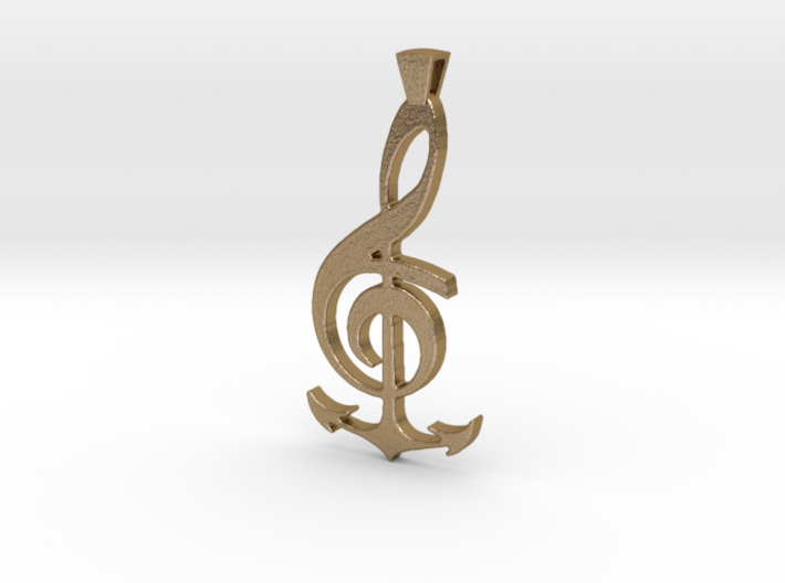 Note and Anchor Pendant 3d printed