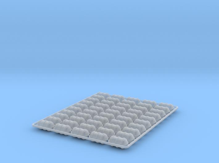 50  x Life Raft 1/192 3d printed