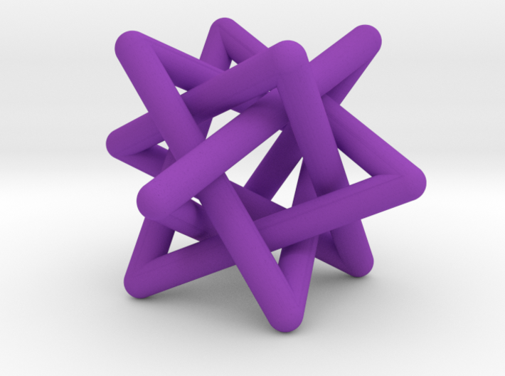 Four Tangled Triangles Large 3d printed