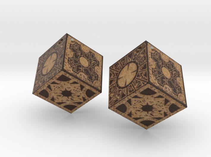 Hellraiser earrings 3d printed