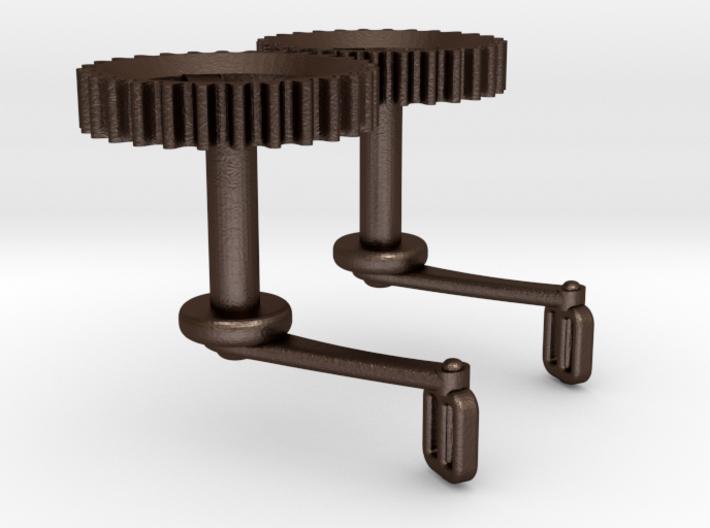 Bicycle Chainwheel Cufflinks 3d printed