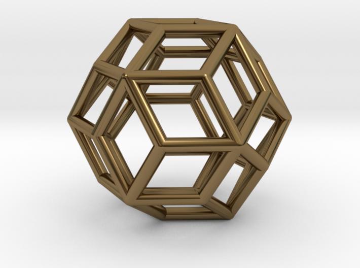 Rhombic Triacontahedron Pendant 3d printed