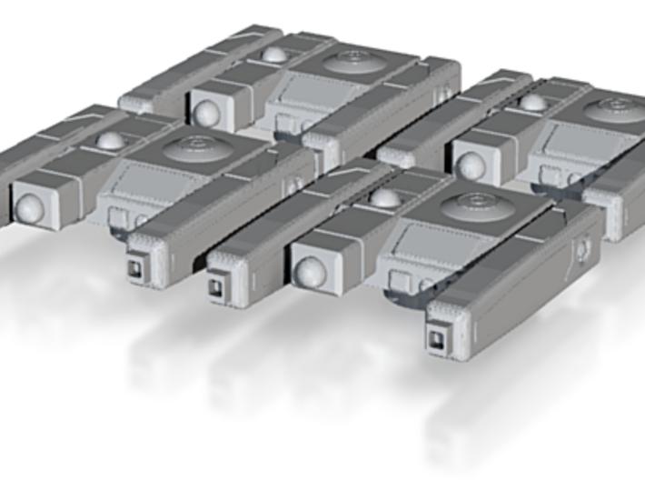 """""""High Tech"""" Main Battery Sci-Fi Gun Mount Package 3d printed"""