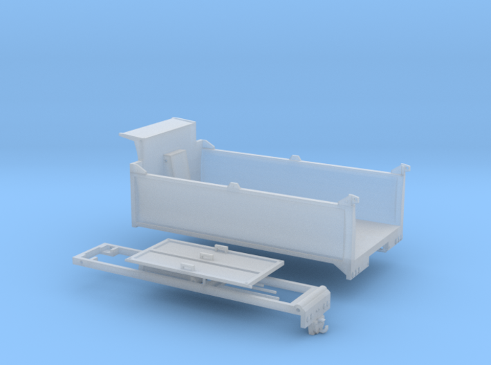 1/64th Scale 15' Concave Side Dump Truck Body 3d printed