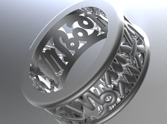 Constellation symbol ring 5 3d printed