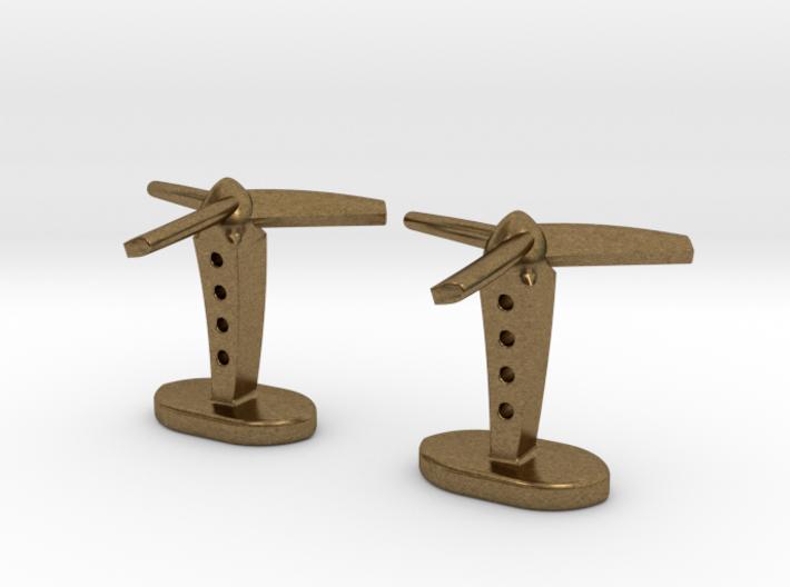 Propeller cufflinks 3d printed