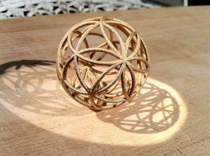3D 88mm Orb of Life (3D Seed of Life)  3d printed