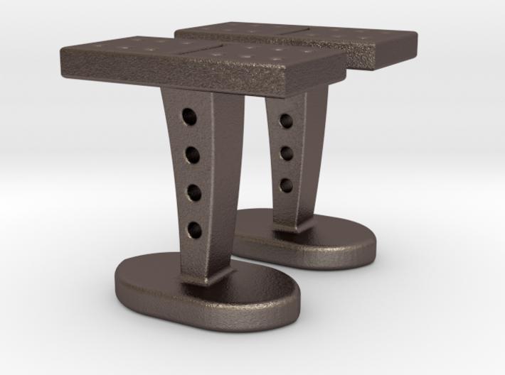 Domino Cufflinks 3d printed