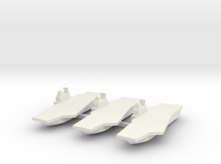 Generic Angled Deck Aircraft Carrier X 3 3d printed