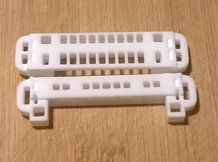 Thinkpad Caddy for mSATA-to-µSATA Adapter 3d printed front and rear part separated