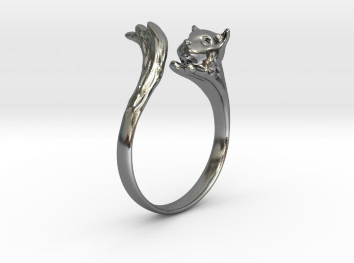 Silvercat Ring 3d printed