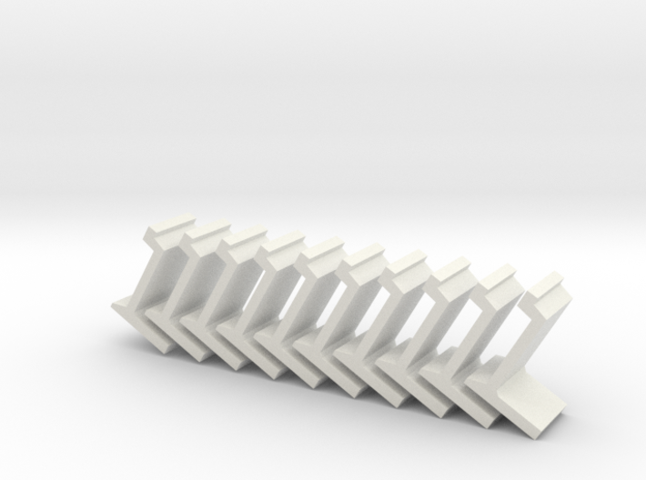 N platform wall / perronwand 1:160 10pc 3d printed