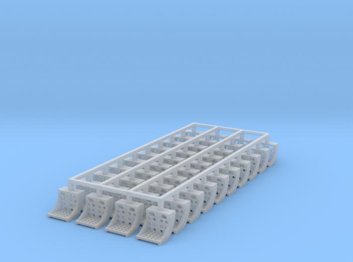 40x Running Board Steps - HO 3d printed