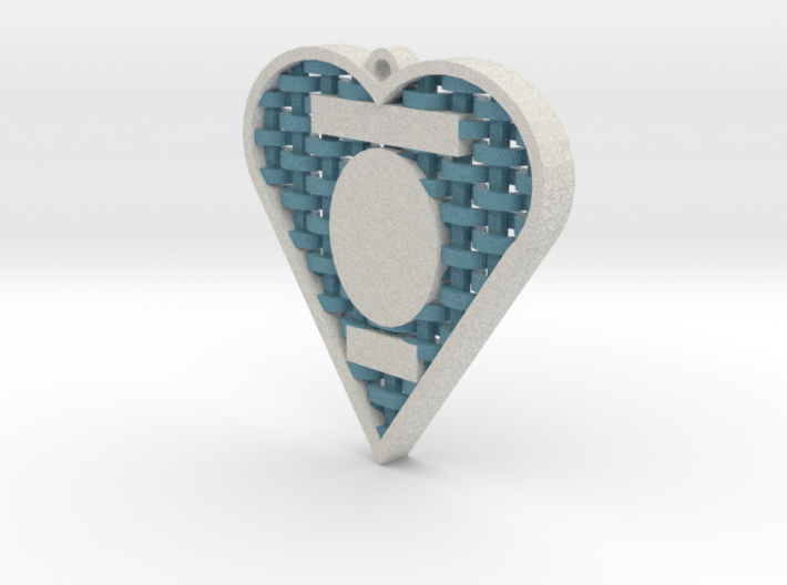 Custom Woven Heart Cameo Ornament 3d printed