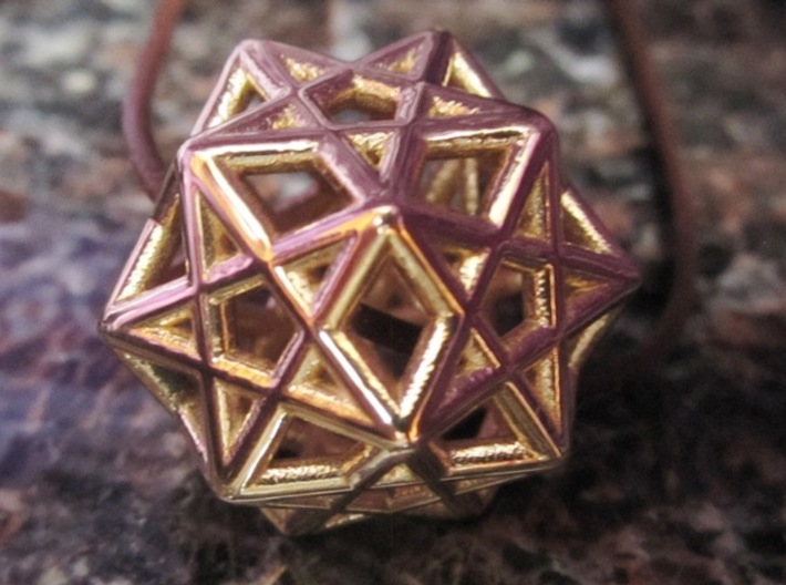 Star Dodecahedron Pendant 3d printed