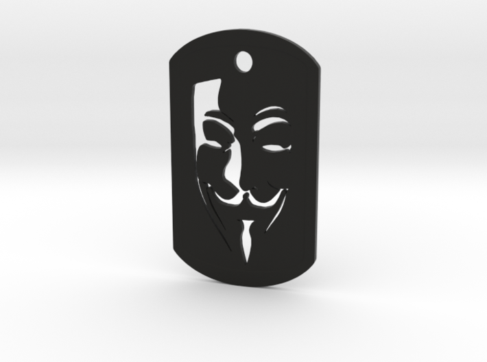 Guy Fawkes DogTag-non metal 3d printed