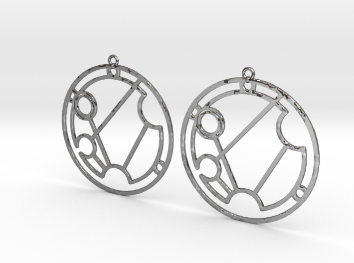 Savannah - Earrings - Series 1 3d printed