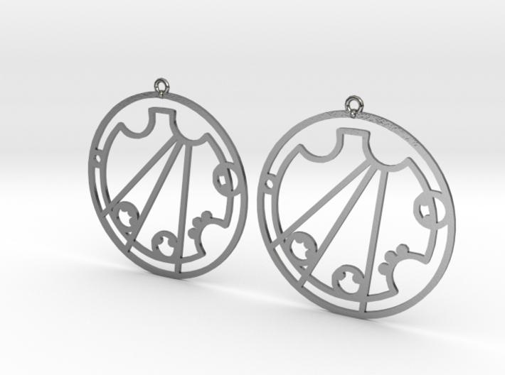 Crystal / Krystal - Earrings - Series 1 3d printed