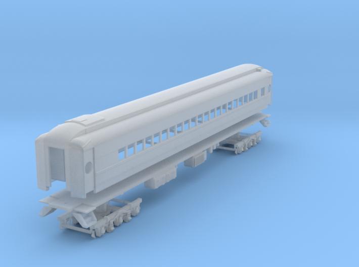 D&H heavyweight coach with modernized windows 3d printed