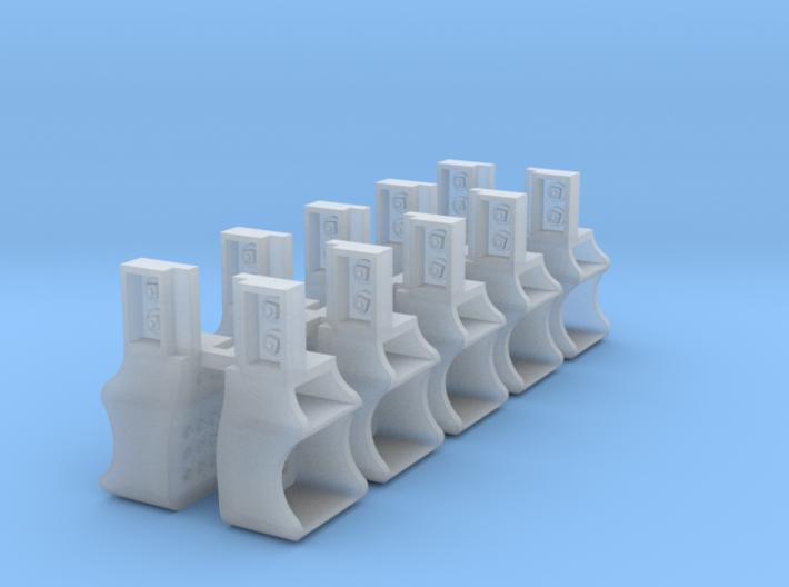 10x Southern Ry. Tender Steps - HO 3d printed