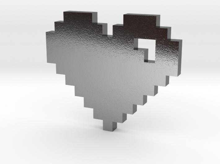 8 Bit Heart (Pixel Heart) 3d printed