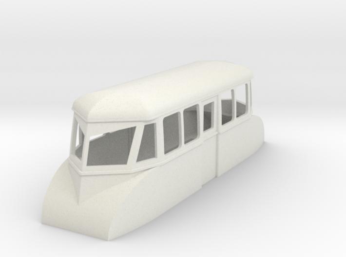 "009 4w ""flying banana"" railcar 3d printed"